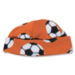 Soccer Ball Fleece Beanie (Orange)