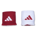 adidas Interval Reversible Wristband (Sc/Wh)