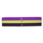 adidas Women's Spree Hairband 3 PK (Purple)