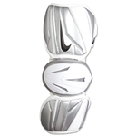Nike Vapor Elite Barrel Lacrosse Arm Guards (White/Gray)