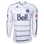 Vancouver Whitecaps FC 2012 Long Sleeve Authentic Home Soccer Jersey