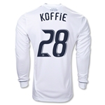 Vancouver Whitecaps 2012 KOFFIE Authentic LS Home Soccer Jersey