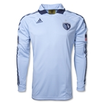 Sporting Kansas City 2012 Long Sleeve Home Authentic Soccer Jersey