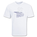 Skill 101 Stomach Soccer T-Shirt (White)