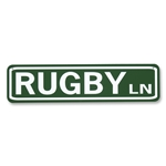 RUGBY LN Street Sign