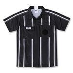 RefGear Pro Soccer Referee Jersey (Black)