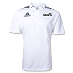 adidas Serevi Three Stripe Rugby Jersey (White/Black)