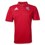 adidas USA Sevens Three Stripe Rugby Jersey (Red/White)