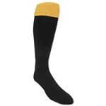 365 Turndown Rugby Socks (Black/Yellow)