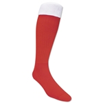 365 Turndown Rugby Socks (Red/White)