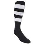 365 Hoop Rugby Sock (Black/White)