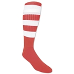 365 Hoop Rugby Sock (Red/White)