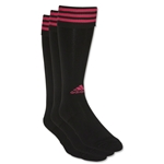 adidas Copa Zone Cushion Irreg 3 Pack (Black/Pink)
