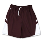 Warrior Evolution Game Lacrosse Shorts (Maroon/Wht)
