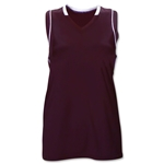 Brine Icon Racer Back Game Women's Lacrosse Jersey (Maroon/Wht)