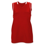 Brine Icon Racer Back Game Women's Lacrosse Jersey (Sc/Wh)
