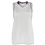 Brine Icon Racer Back Game Women's Lacrosse Jersey (Wh/Ma)
