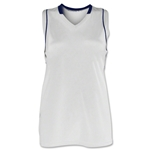 Brine Icon Racer Back Game Women's Lacrosse Jersey (Wh/Nv)
