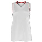 Brine Icon Racer Back Game Women's Lacrosse Jersey (Wh/Sc)
