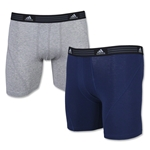 adidas Athletic Stretch 2PK Boxer Brief (Sv/Nv)