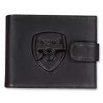 Arsenal Embossed Crest Leather Wallet