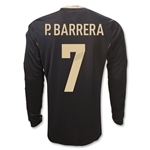 Mexico 11/12 P. BARRERA Away Long Sleeve Soccer Jersey