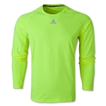 adidas TechFit Fitted Long Sleeve Top (Neon Green)