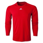 adidas TechFit Fitted Long Sleeve Top (Red)