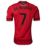D.C. United 2012 DE ROSARIO Authentic Third Soccer Jersey