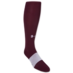 Under Armour Solid Flat Knit Socks (Maroon)