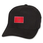 Marruecos Flex Fit Gorra de Futbol (Negra)