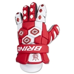 Brine Triumph Goalie Lacrosse Gloves 13 (Red)