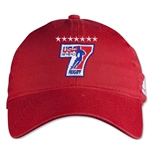 adidas USA Sevens Washed Cap (Red)