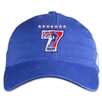 adidas USA Sevens Washed Cap (Royal)