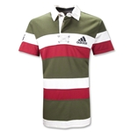 adidas 16th Man SS Hooped Rugby Jersey (Red)