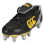 Canterbury CCC Phoenix Elite 8S SG Rugby Boot (Black/Yellow)