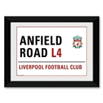 Liverpool Anfield Rd. Framed Print 16x12