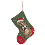 Soccer Bear on Stocking Ornament