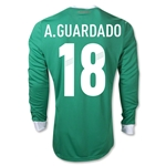 Mexico 11/12 A. GUARDADO Home Long Sleeve Soccer Jersey