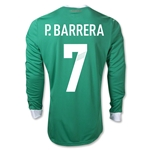 Mexico 11/12 P. BARRERA Jersey de Futbol Local ML