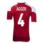 Denmark 12/13 AGGER Authentic Home Jersey
