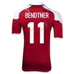 Denmark 12/13 BENDTNER Authentic Home Jersey