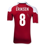 Denmark 2012 ERIKSEN Authentic Home Soccer Jersey