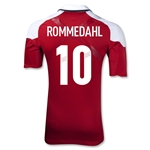Denmark 12/13 ROMMEDAHL Authentic Home Jersey