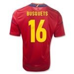 Spain 11/13 BUSQUETS Home Soccer Jersey
