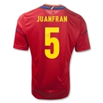 Spain 11/13 JUANFRAN Home Soccer Jersey