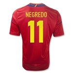 Spain 11/13 NEGREDO Home Soccer Jersey
