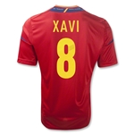 Spain 11/13 XAVI Home Soccer Jersey
