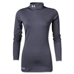 Under Armour Women's ColdGear Fitted Mock (Dk Grey)