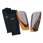 Nike Mercurial Lite Shinguard (Chrome/Total Orange/Black)